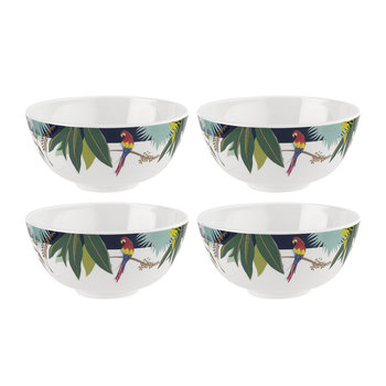 Parrot Collection Melamine Bowl - Set of 4