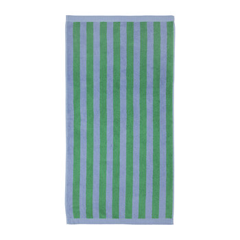 Kaksi Raitaa Towel - Light Blue/Dark Green