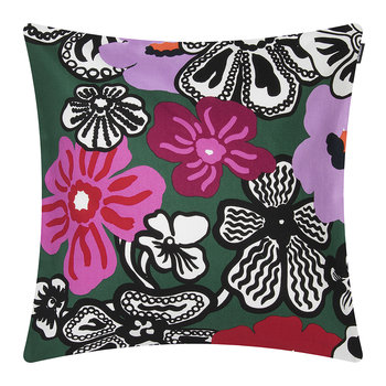 Kaukokaipuu Pillow Cover - Green/Violet/Red - 45x45cm