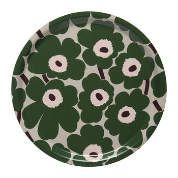 Mini Unikko Tray - Beige/Green/Peach - 31cm