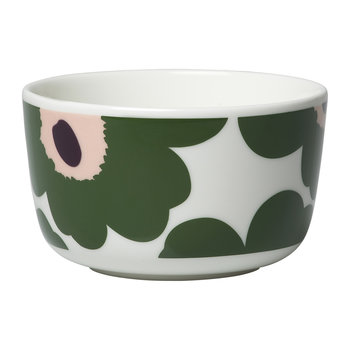 Oiva/Unikko Bowl - Small - White/Green/Peach