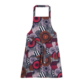 Pieni Siirtolapuutarha Apron - White/Red/Dark Blue