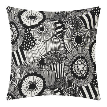 Pieni Siirtolapuutarha Pillow Cover - Off White/Black - 50x50cm