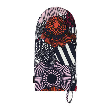Pieni Siirtolapuutarha Oven Glove - White/Red/Dark Blue
