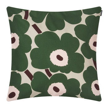 Pieni Unikko Pillow Cover - Beige/Green/Peach - 45x45cm