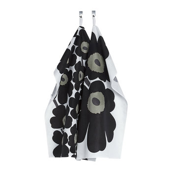 Unikko Tea Towel - Pack of 2 - White/Black