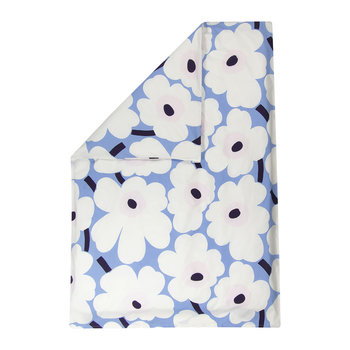 Unikko Quilt Cover - Sky Blue/Off White/Plum