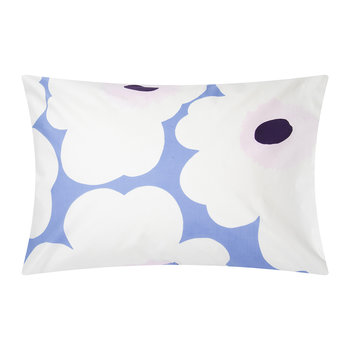 Unikko Pillowcase - Sky Blue/Off White/Plum