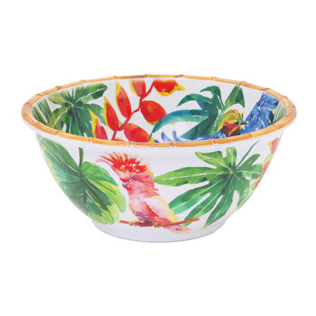 Tropical Birds Deep Salad Bowl