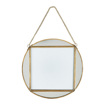 "Teema Round Frame - 8x8"" - Antique Brass"