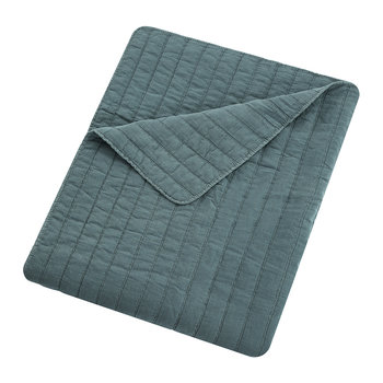 Washed Quilted Bedspread - Pacific