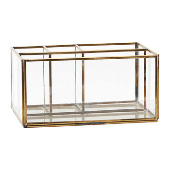 Square Brass Desk Organizer