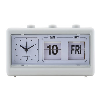 Alarm Clock with Calendar - Retro Grey