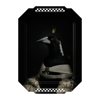 Galerie De Portraits - Rectangular Bird Tray - Magpie