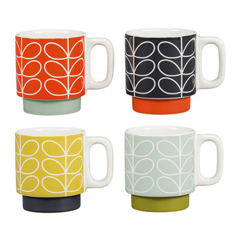 Linear Stem Stacking Espresso Mugs - Set of 4
