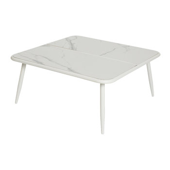 Como Marble Lounge Table - White