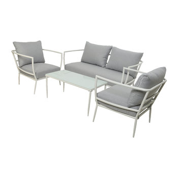 Milan Sofa Set - White