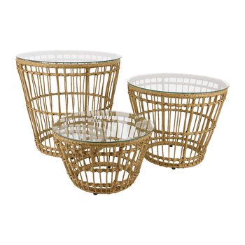 Corsica Wicker Side Table - Set of 3