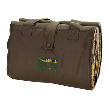 Eventer Pure New Wool Picnic Blanket - Natural Buchanan/Chocolate