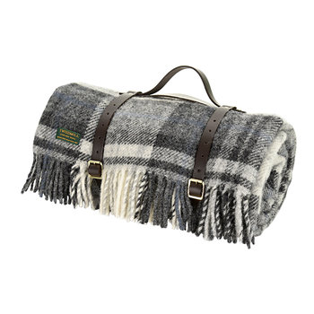 Pure New Wool Polo Picnic Rug - Cottage Grey/Black