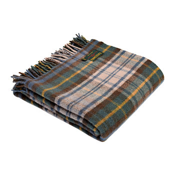 Pure New Wool Tartan Throw - Antique Dress Gordon