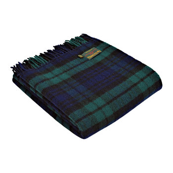 Plaid tartane en nouvelle laine pure - Blackwatch