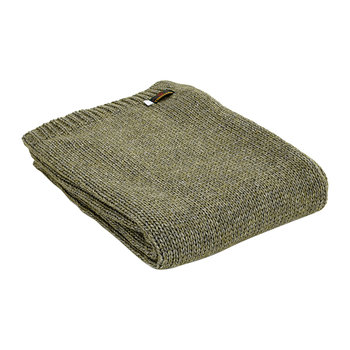 Knitted Alpaca Throw - Green