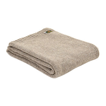 Knitted Alpaca Throw - Natural