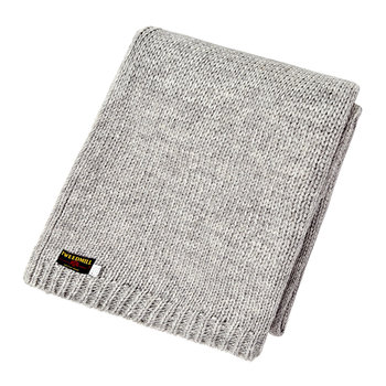 Knitted Alpaca Throw - Gray