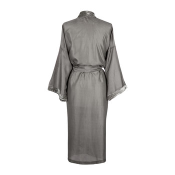 Silk Bathrobe - Silver