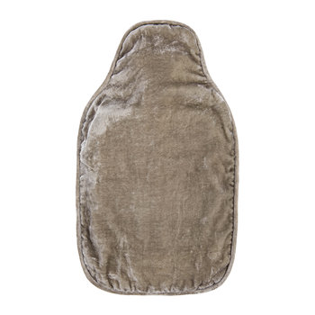 Velvet Hot Water Bottle - Silver