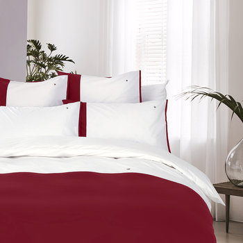 Colour Block Quilt Cover - Red