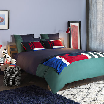 Colour Block Quilt Cover - Evergreen