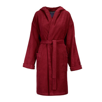Hilfiger Iconic Hooded Bathrobe - Bordeaux
