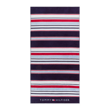 Iconic Stripes Beach Towel - Navy