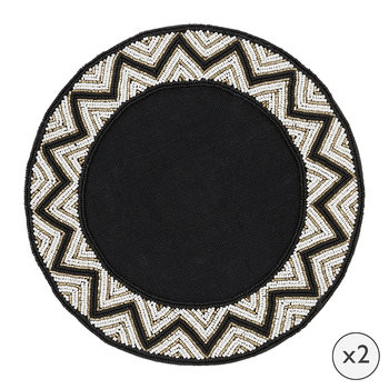 Addison Beaded Placemats - Set of 2