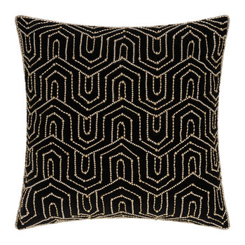 Beaded Art Deco Pillow - 45x45cm