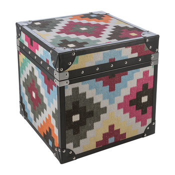Multi Diamond Leather Chest - Small
