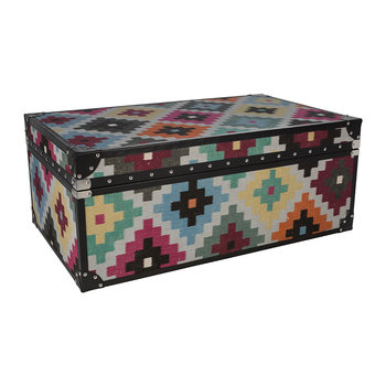 Multi Diamond Leather Chest - Large
