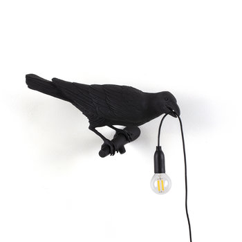 Bird Lamp - Looking Right - Black