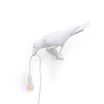Bird Lamp - Looking Left - White