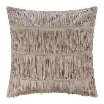 Velvet Tassel Cushion - 50x50cm - Gold
