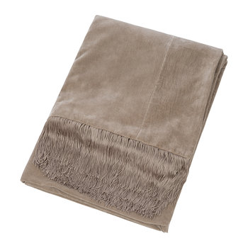 Velvet Tassel Fringe Throw - 130x170cm