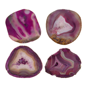 Agate Coasters - Set of 4 - Pink