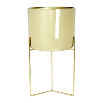 Raised Gold Planter - Short