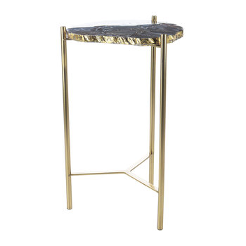 Agate Slab Side Table - Black