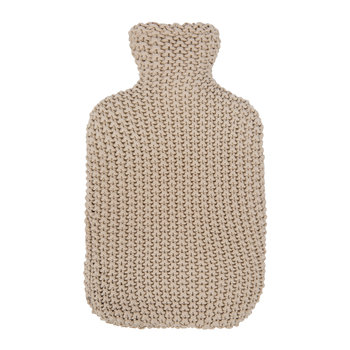 Knitted Hot Water Bottle - Tan