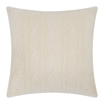 Cable Knit Cushion - 45x45cm - Cream