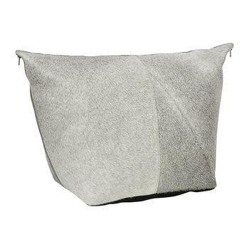 Mixed Cowhide Pouf - Gray