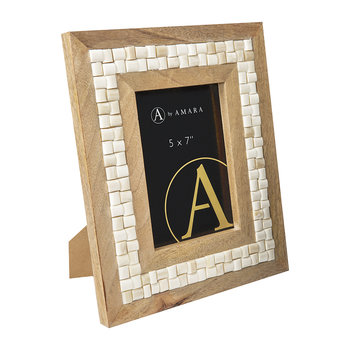 Cream Tile Photo Frame - 5x7""